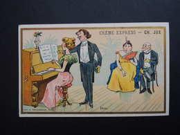 Chromo FARRADESCHE. Pub. CREME  EXPRESS. CH. JUX.   DUO.  Piano. - Unclassified