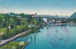 Cachet Hopital Auxiliaire No 205 D'Annecy Sur CP - Marcophilie (Lettres)