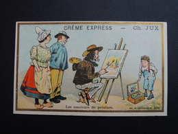 Chromo FARRADESCHE. Pub. CREME  EXPRESS. CH. JUX.   Les  Amateurs De Peinture. Peintre. Toile. Palette. - Unclassified