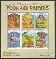 2433  Walt Disney  Antigua & Barbuda  1998 - Winnie The Pooh And Friends Over The Months . - Disney