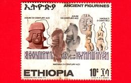 ETIOPIA - Usato - 1970 - Antiche Ceramiche Etiopi - Figure - 10 - Etiopia