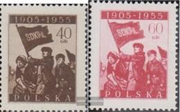Polen 946-947 (completa Edizione) MNH 1955 Rivoluzionaria Anni - 1944-.... Republik
