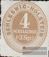 Schleswig-Holstein 12 Unused 1865 Drawing Numbers - Schleswig-Holstein