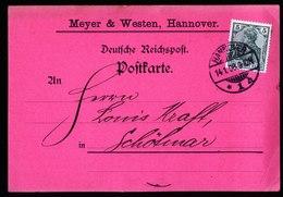 A5702) DR Rote Firmenkarte Hannover Meyer & Westen 14.01.08 - Deutschland