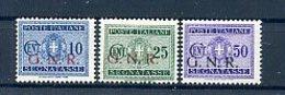 A23219)Italien Militaerpost B 45* + 47* + 50* - 1900-44 Victor Emmanuel III.
