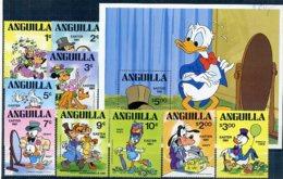 A23270)Disney: Anguilla 432 - 440** + Bl 37** - Disney