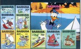 A23274)Disney: Barbuda 534 - 542** + Bl 56** - Disney