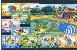 A23272)Disney: Anguilla 501 - 504** + Bl 45** - Disney