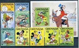A23284)Disney: Grenada 991 - 999** + Bl 86** - Disney