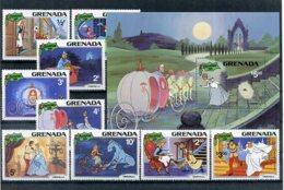 A23287)Disney: Grenada 1109 - 1117** + Bl 98** - Disney