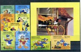 A23290)Disney: Grenada-Grenadinen 418 - 426** + Bl 51** - Disney