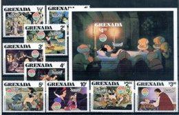 A23289)Disney: Grenada 1066 - 1074** + Bl 92** - Disney