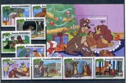 A23294)Disney: Grenada-Grenadinen 460 - 468** + Bl 58** - Disney