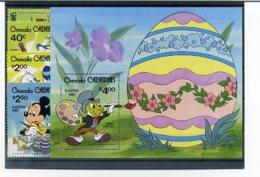 A23293)Disney: Grenada-Grenadinen 437 - 440** + Bl 54** - Disney