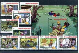 A23295)Disney: Grenada-Grenadinen 529 - 537** + Bl 70** - Disney