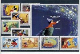 A23301)Disney: Mongolei 1531 - 1539** + Bl 90** - Disney