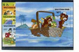 A23312)Disney: Turks + Caicos-Inseln 532 - 535** + Bl 30** - Disney