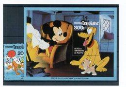 A23308)Disney: Togo 1496** + Bl 166** - Disney