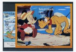 A23311)Disney: Turks + Caicos-Inseln 524 - 525** + Bl 28** - Disney