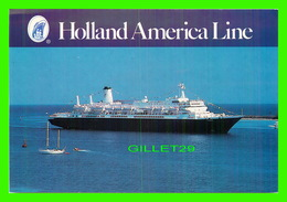 BATEAUX, SHIPS - M/S NIEUW AMSTERDAM - HOLLAND AMERICA LINE - - Paquebots