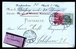 A5703) DR Nachnahme-Karte Hannover 2.2.05 N. Schötmar - Deutschland