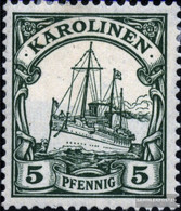Carolines (German.Colony) 8 Unmounted Mint / Never Hinged 1901 Ship Imperial Yacht Hohenzollern - Colony: Caroline Islands