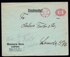 A5704) DR Infla Brief Drucksache Leipzig 26.08.22 Postfreistempel 50 - Deutschland