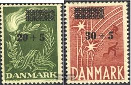 Denmark 353-354 (complete Issue) Fine Used / Cancelled 1955 Freiheitsfonds - Dänemark