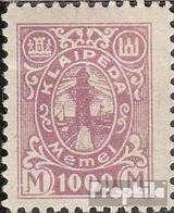 Memelgebiet 161 Avec Charnière 1923 Port Memel - Klaipeda