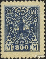 Memelgebiet 160 Avec Charnière 1923 Port Memel - Klaipeda