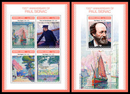 SIERRA LEONE 2018 - P. Signac, Ships. M/S + S/S Official Issue. - Ships