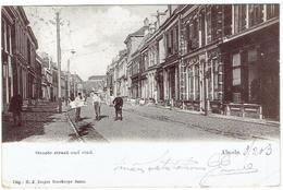 ALMELO - Groote Straat Oud Eind - Uitg. H. J. Draper  Goedkoope Bazar - Almelo