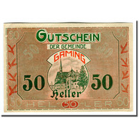 Billet, Autriche, Gaming, 50 Heller, Texte  5, 1920, SPL, Mehl:220b - Autriche