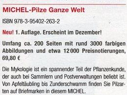 Erstauflage MICHEL Pilze 2018 Neu 70€ Topics Stamps Catalogue Flora Mushrooms All The World ISBN 978-3-95402-263-2 - Piante Velenose