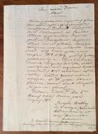 VITERBO 1815 UNIVERSITA' MEDICO CHIRURGICA ATTESTATO NOTARILE IN LATINO  AL PROF.FRANCESCO ORIOLI PER IL BIENNIO  1808-9 - Documenti Storici