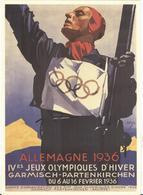 GERMANY Olympic Stationery Postcard With Handcancel International Wintersportweek Garmisch-Partenkirchen - Winter 1936: Garmisch-Partenkirchen