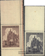 Bohemia And Moravia 140LS-141LS With Blank (complete Issue) Unmounted Mint / Never Hinged 1944 Vitus-Dom - Unused Stamps