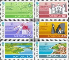 Portugal - Azores 336-341 (complete.issue.) FDC 1980 Boarding. Tourism Conference - Azores