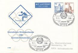 GERMANY Olympic Stationery Cover With Handcancel International Wintersportweek Garmisch-Partenkirchen - Winter 1936: Garmisch-Partenkirchen