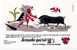 Buvard  La Vache Qui Rit, Fromageries Bel. Série Travaux D'Hercule N°6 Le Sanglier De La Forêt D'Erymanthe. - Buvards, Protège-cahiers Illustrés