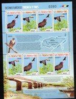 URUGUAY,2018, MNH, TOURIST DESTINATIONS, BIRDS, TOUCANS, BRIDGES, BOATS, SHEETLET OF 8v - Birds