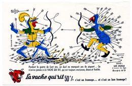 Buvard  La Vache Qui Rit, Fromageries Bel. Série Les Duels à Travers Les âges. N°3 - Blotters
