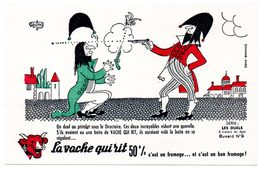 Buvard  La Vache Qui Rit, Fromageries Bel. Série Les Duels à Travers Les âges. N°9 - F