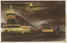 LANCS - BLACKPOOL ILLUMINATIONS - THE BIG DIPPER, PLEASURE BEACH RP La2276 - Blackpool