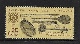 TURKMENISTAN 1992 INSTRUMENT DE MUSIQUE  YVERT N°7  NEUF MNH** - Turkménistan
