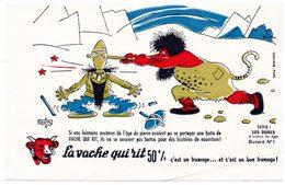 Buvard  La Vache Qui Rit, Fromageries Bel. Série Les Duels à Travers Les âges. N°1 - Blotters