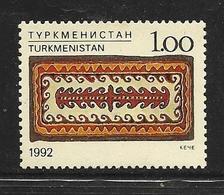 TURKMENISTAN 1992 TAPIS  YVERT N°9  NEUF MNH** - Turkménistan
