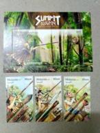 Malaysia 2018 Blowpipe Aboriginal People Hunting Weapons Bird Monkey Hornbill  Combo Set + MS Miniture Sheet MNH - Malaysia (1964-...)