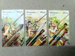 Malaysia 2018 Blowpipe Aboriginal People Hunting Weapons Bird Monkey Hornbill  Set MNH - Malaysia (1964-...)