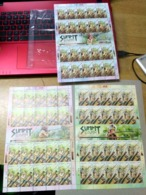 Malaysia 2018 Blowpipe Aboriginal People Hunting Weapons Bird Monkey Hornbill  Full Sheet Sheetlet MNH 20v - Malaysia (1964-...)